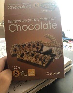 Barrita de arroz y trigo con chocolate