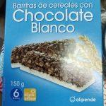 Barritas de céréales con Chocolate Blanco