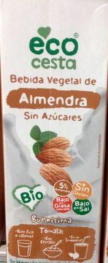Bebida Vegetal de Almendra Sin Azúcares