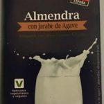 Bebida con jarabe de agave y almendras ultrapasteurizada