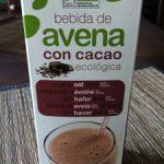 Bebida de avena con cacao