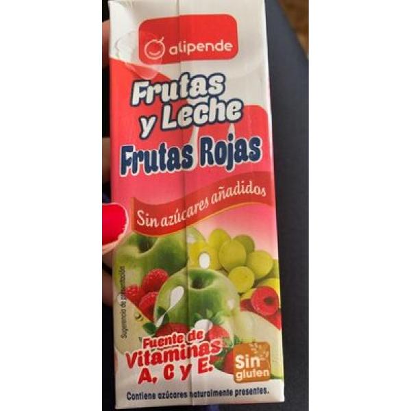 Bebida refrescante mixta de zumo de frutas y leche