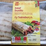 Beef burrito mexican by sainsbury s