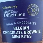 Belgian chocolate brownie mini bites