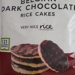 Belgian dark chocolate rice cakes