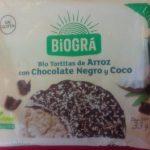 Bio Tortitas de Arroz con Chocolate Negro y Coco