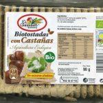 Bio tostadas de castañas ecológicas sin gluten