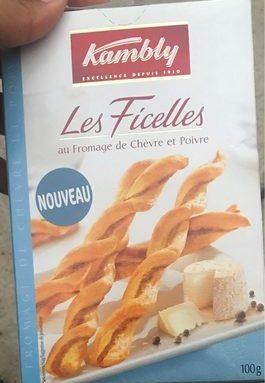 Biscuits Les Ficelles au fromage de chèvre et poivre