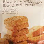 Biscuits aux 4 céréales et à l'huile de palme