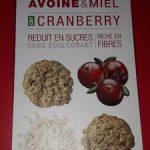 Biscuits croquants Cranberry