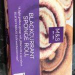 Blackcurrant sponge roll