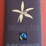 Blanc éclats de fèves de cacao