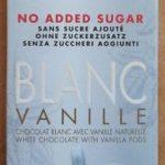 Blanc vanille no added sugar