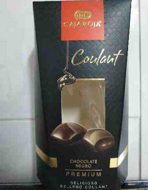 Bombones chocolate negro premium caja roja