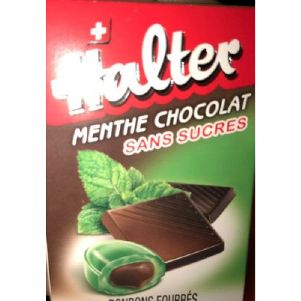 Bonbons Halter Sans Sucre Menthe Chocolat