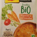 Bouillon bio légumes et vermicelles