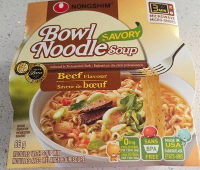 Bowl Noodle Soup - Beef Flavour