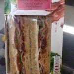Brie & Bacon sandwich triangle
