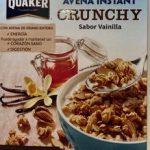 Buenos Días Avena Instant Crunchy Sabor Vainilla