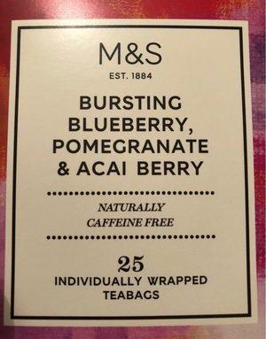 Bursting blueberry pomegranate & acai berry