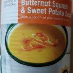 Butternut squart & sweet potato soup