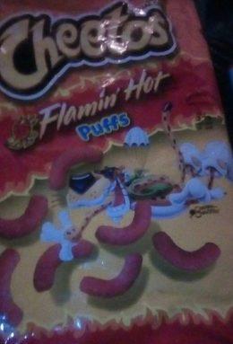 CHEETOS flamin' hot puffs