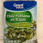 CHILE POBLANO EN RAJAS