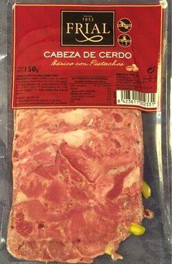 Cabeza de cerdo Ibérico con pistachos