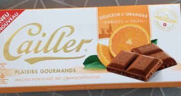 Cailler PLAISIRS GOURMANDS Milchschokolade mit orangenfullung