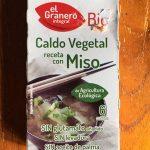 Caldo vegetal receta con miso