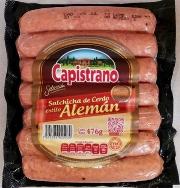 Capistrano Salchicha de cerdo estilo Alemán