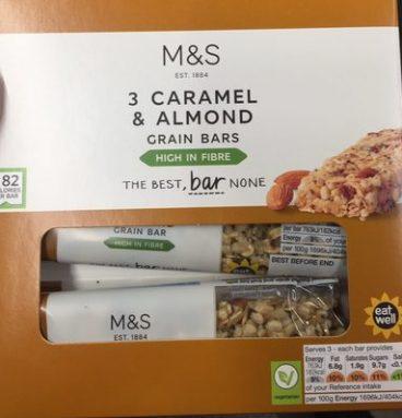 Caramel & almond bars