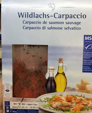 Carpaccio de Saumon Sauvage