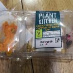 Carrot bites with cannelli bean dip
