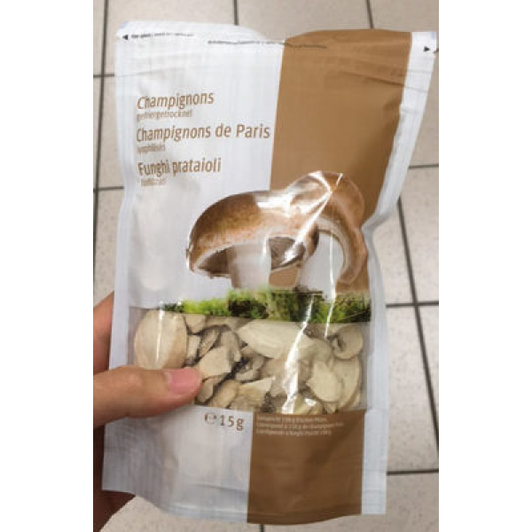 Champignons de Paris Séchés