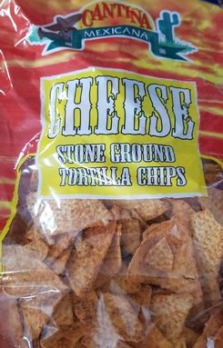 Cheese stone ground tortilla chips