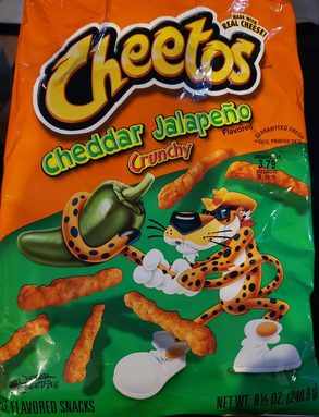Cheetos Cheddar Jalapeno Crunchy