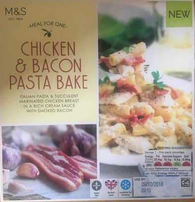 Chicken and Bacon pasta bake