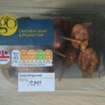 Chicken satay & peanut dip