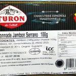 Chiffonade de jambon Serrano