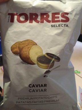 Chips aromatisées au Caviar