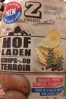 Chips du terroir poivre et thym citron