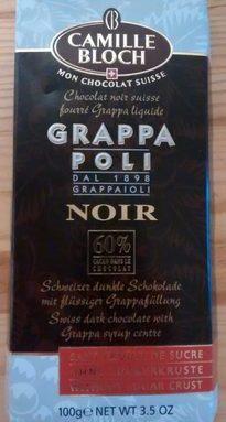 Chocolat Suisse fourré Grappa liquide