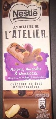 Chocolat au lait Raisins