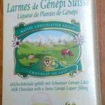 Chocolat au lait aux larmes de Génépi suisse