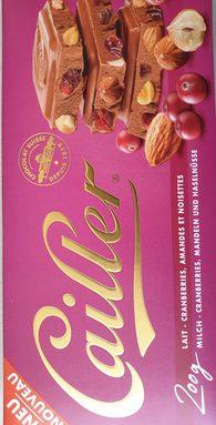 Chocolat au lait cranberries