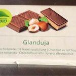 Chocolat au lait fourré Gianduja (Migros)