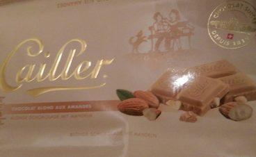 Chocolat blond aux amandes