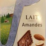 Chocolat lait amandes