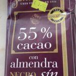 Chocolate negro con almendra sin azucar